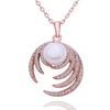 Pearl Diamond Rose Gold Necklace - Florence Scovel - 1