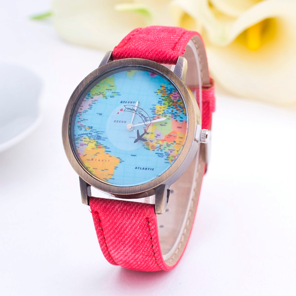 Denim World Map Watch - Florence Scovel - 7