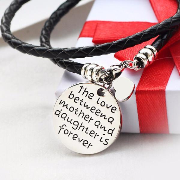 The Love Between a Mother and Daughter is Forever Bracelet