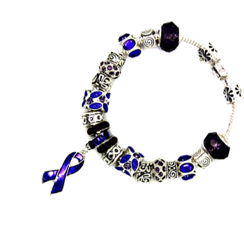 Purple Ribbon Awareness Bracelet - Florence Scovel