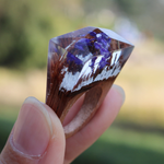 Purple Flower Wood Ring - Florence Scovel - 3