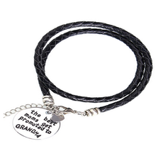 The Best Moms Get Promoted to Grandma - Handstamped Bracelet - Florence Scovel - 1