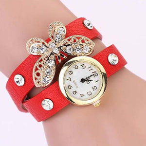 Butterfly Diamond Leather Watch - Florence Scovel - 5