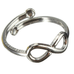 Simple Retro Ribbon On Foot Toe Ring - Florence Scovel - 2
