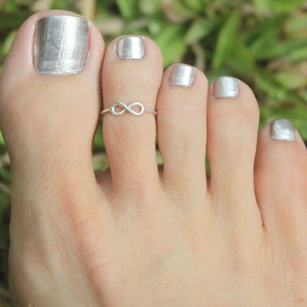 Simple Retro Ribbon On Foot Toe Ring - Florence Scovel - 1