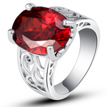 Garnet Bold Love Ring - Florence Scovel