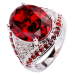 Garnet Red Statement Ring - Florence Scovel