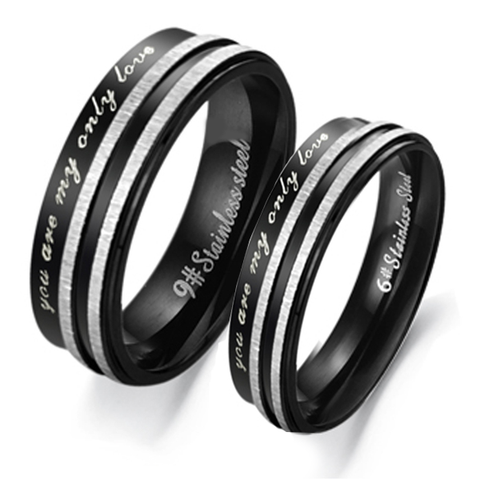 Black Only Love Couples Rings - Florence Scovel