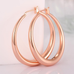 Solid Gold French Lock Hoops - Florence Scovel - 5