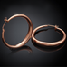 Solid Gold French Lock Hoops - Florence Scovel - 4