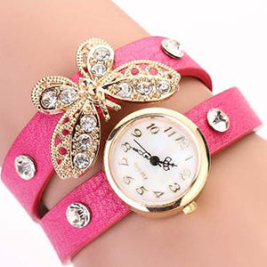 Butterfly Diamond Leather Watch - Florence Scovel - 2