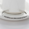 She Believed She Could So She Did Cuff Bangle - Florence Scovel - 2