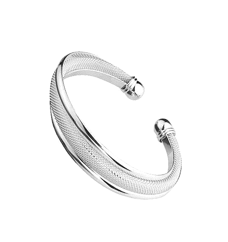 Silver Knot Bangle - Florence Scovel