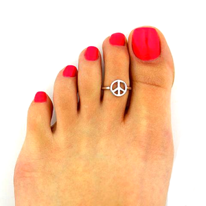 Silver Peace Toe Ring - Florence Scovel - 1