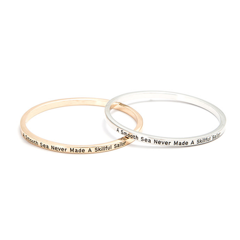 A Smooth Sea Never Made A Skilled Sailor Bangle - Florence Scovel - 6