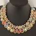 Big Choker Double Bead Necklace - Florence Scovel - 1