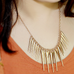 Gold Spike Statement Necklace - Florence Scovel - 2