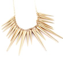 Gold Spike Statement Necklace - Florence Scovel - 1