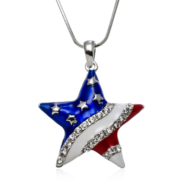 Usa star shaped pendant florence scovel usa star shaped pendant mozeypictures Image collections