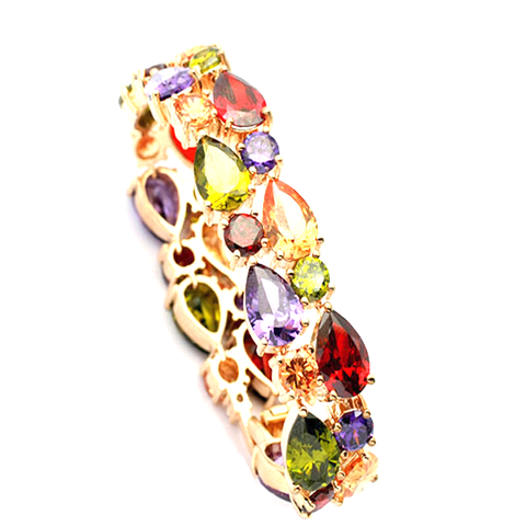 Multi-Color Crystal Bracelet - Florence Scovel - 1