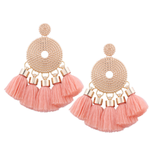 Victoria Boho Tassel Drop Earrings