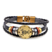 Zodiac Signs Black Gallstone Leather Bracelet - Florence Scovel - 13