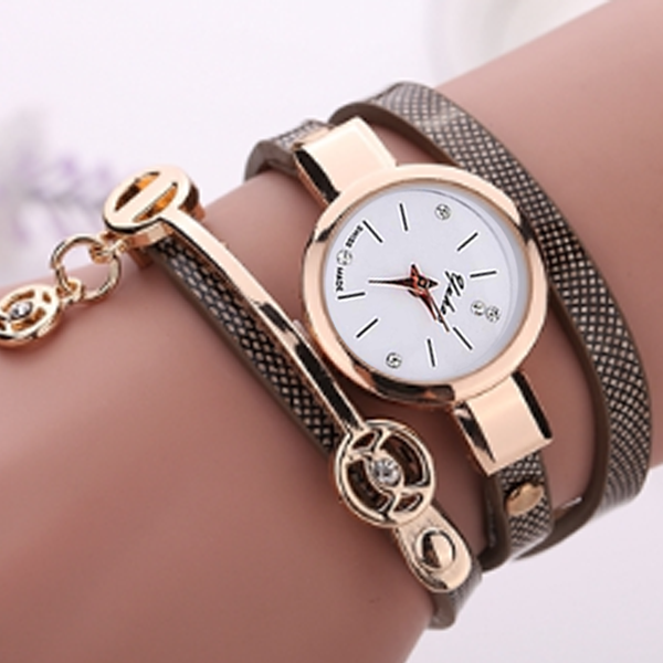 Rose Gold Charm Wrap Watch - Florence Scovel - 10