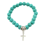 Virtuous Cross Turquoise Bracelet - Florence Scovel - 1