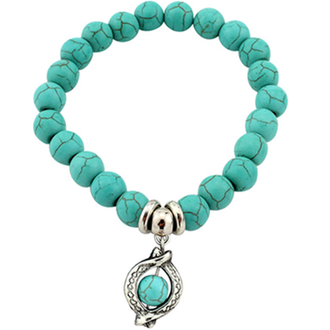 Ancient Circle Ring Turquoise Bracelet - Florence Scovel - 1