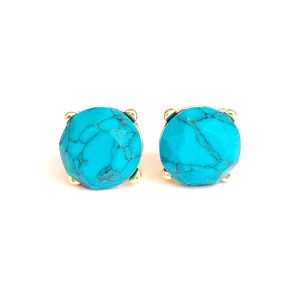 Turquoise Stud Earrings - Florence Scovel