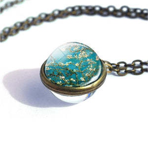 Van Gogh Glass Ball Painting Necklace