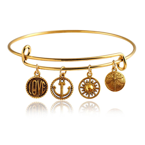 Wanderlust Charm Bangle - Florence Scovel
