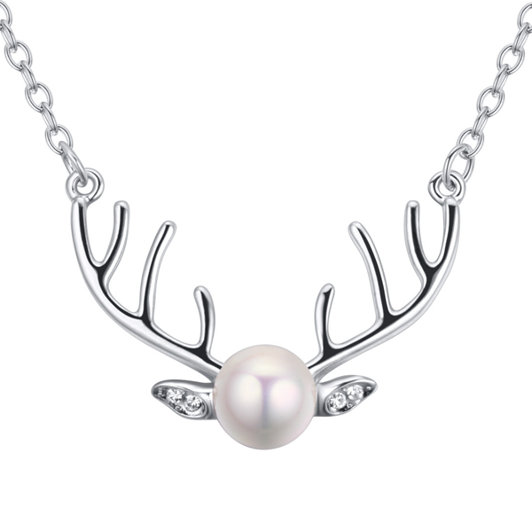 Pearl Reindeer Necklace - Florence Scovel