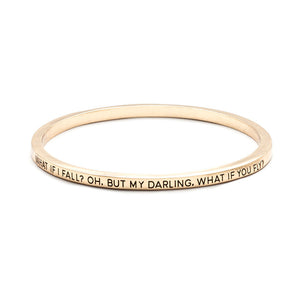 What If I Fall Bangle - Florence Scovel - 6