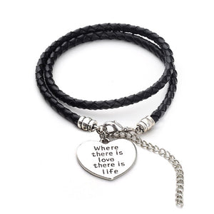 Where there is love there is life - Hand Stamped Bracelet - Florence Scovel