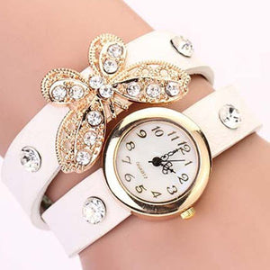 Butterfly Diamond Leather Watch - Florence Scovel - 6