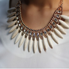 Bohemian Tassels Fringe Drop Statement Necklace - Florence Scovel - 2