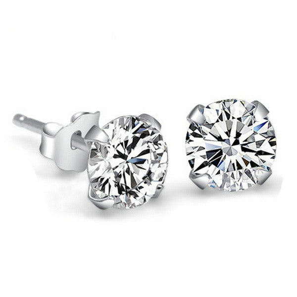 Crystal Stud Earrings - 4mm - Florence Scovel - 1