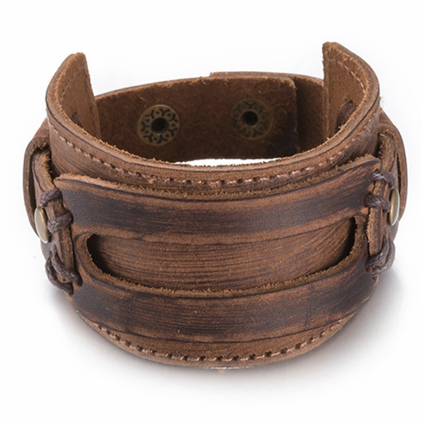 Leather Wide Cuff Bracelet - Florence Scovel - 1
