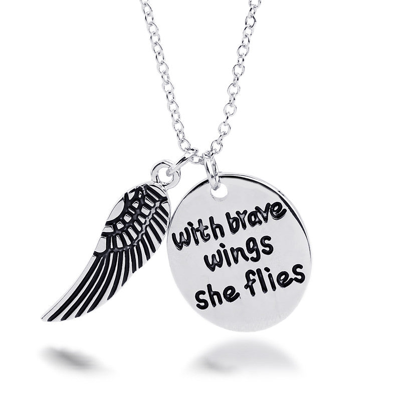 With Brave Wings She Flies Charm Pendant - Florence Scovel - 1