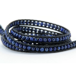 4MM Lapis Natural Stone Wrap Bracelet - Florence Scovel - 2