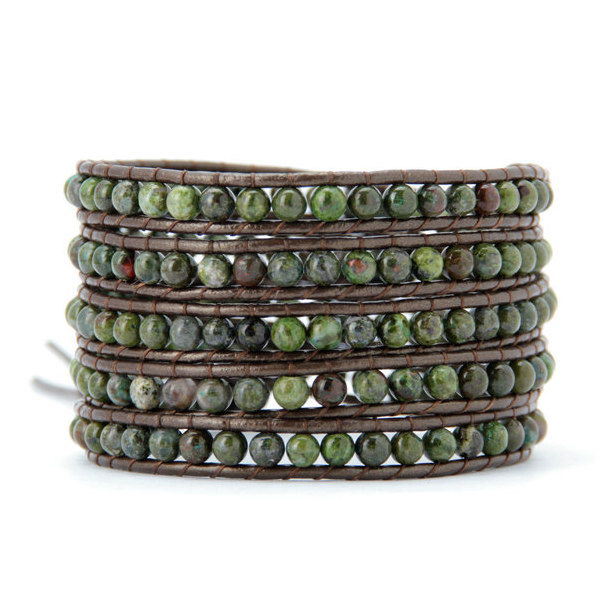 4MM  Natural Jasper Stone Wrap Bracelet - Florence Scovel - 1