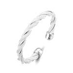 Silver Braided Cuff Bangle - Florence Scovel - 1