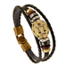 Zodiac Signs Black Gallstone Leather Bracelet - Florence Scovel - 12