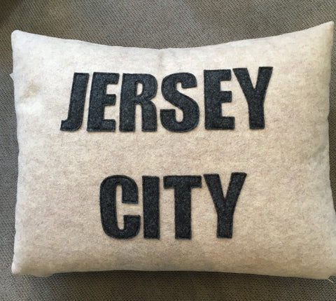 """Jersey City"" 10x16 Inch Pillow"