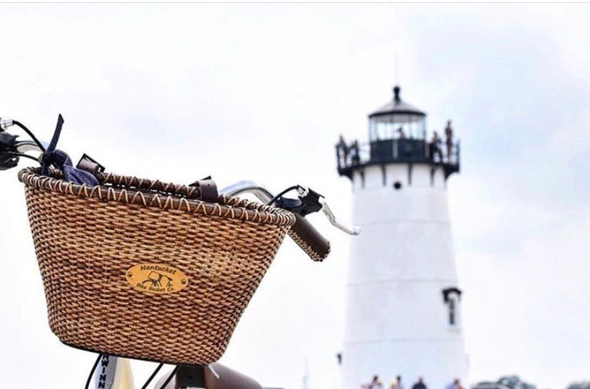 Woven Oval Nantucket Bike Basket
