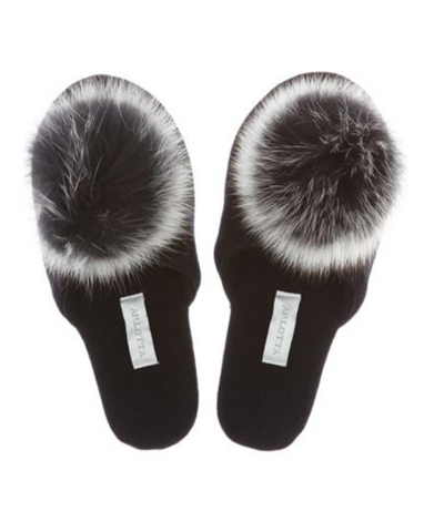 Cashmere Slide With Pom Pom
