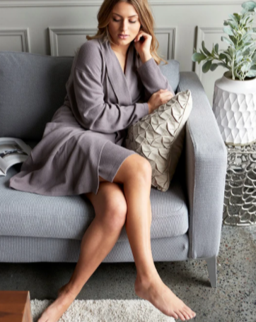 Short Cashmere Robe