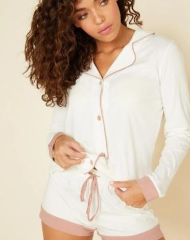 Bella Long Sleeve & Boxer Pajama Set