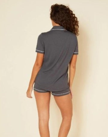 Bella Short Sleeve & Boxer Pajama Set